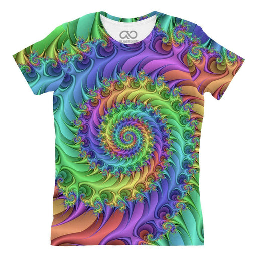 Rainbow Spiral printed all over in HD on premium fabric. Handmade in California.