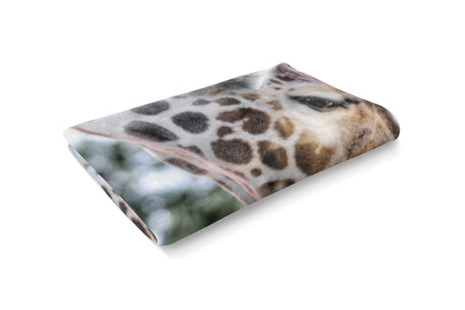 Giraffe Love Fluffy Blanket