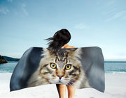 Regal Cat Beach Towel