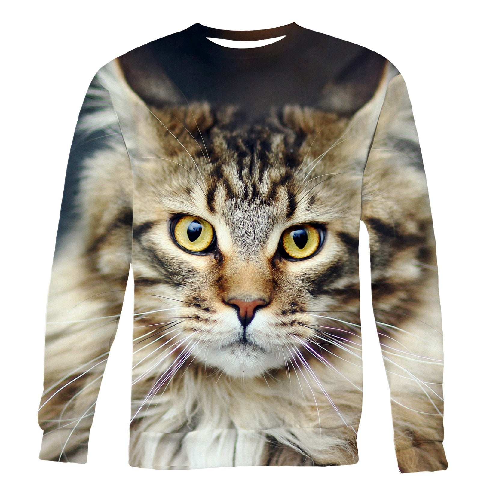 Regal Cat printed all over in HD on premium fabric. Handmade in California.