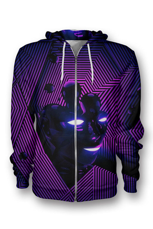 Purple Face printed all over in HD on premium fabric. Handmade in California.