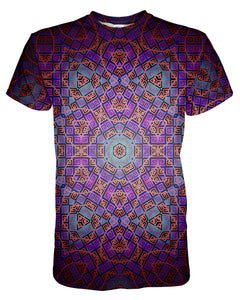 Purple Mandela printed all over in HD on premium fabric. Handmade in California.