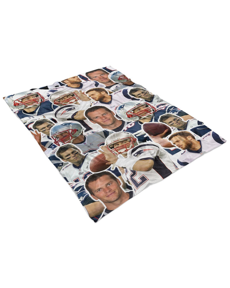 Tom Brady Fluffy Micro Fleece Throw Blanket