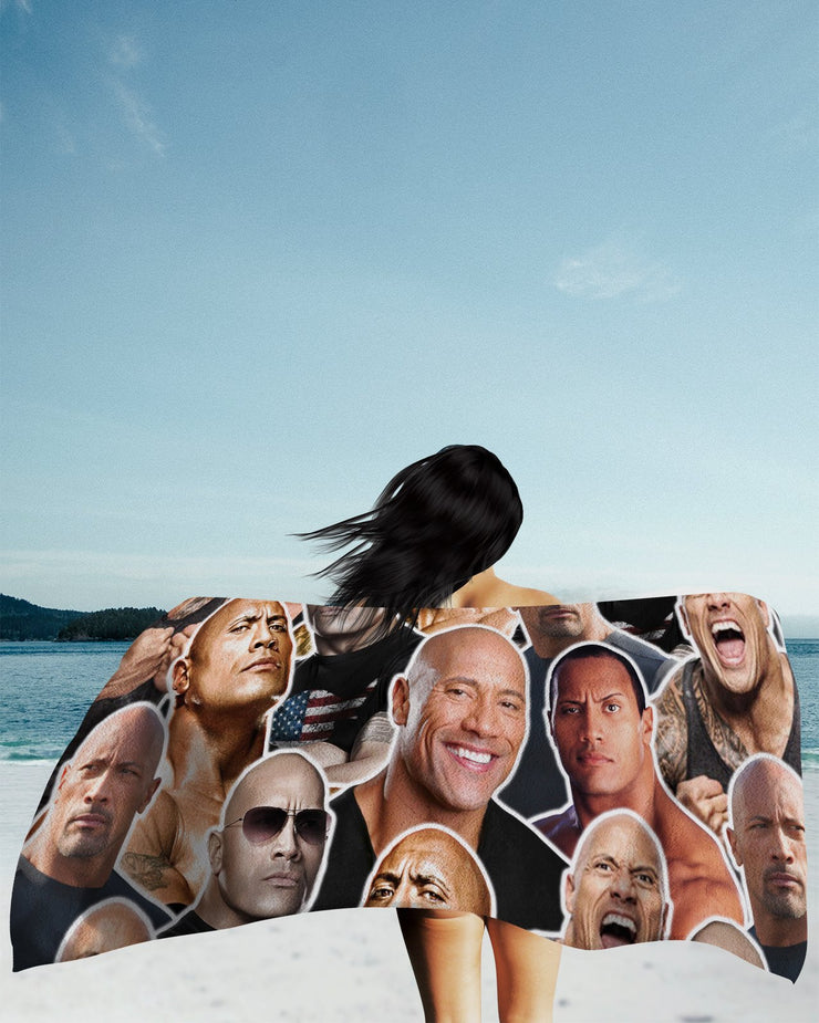 Dwayne Johnson Beach Towel