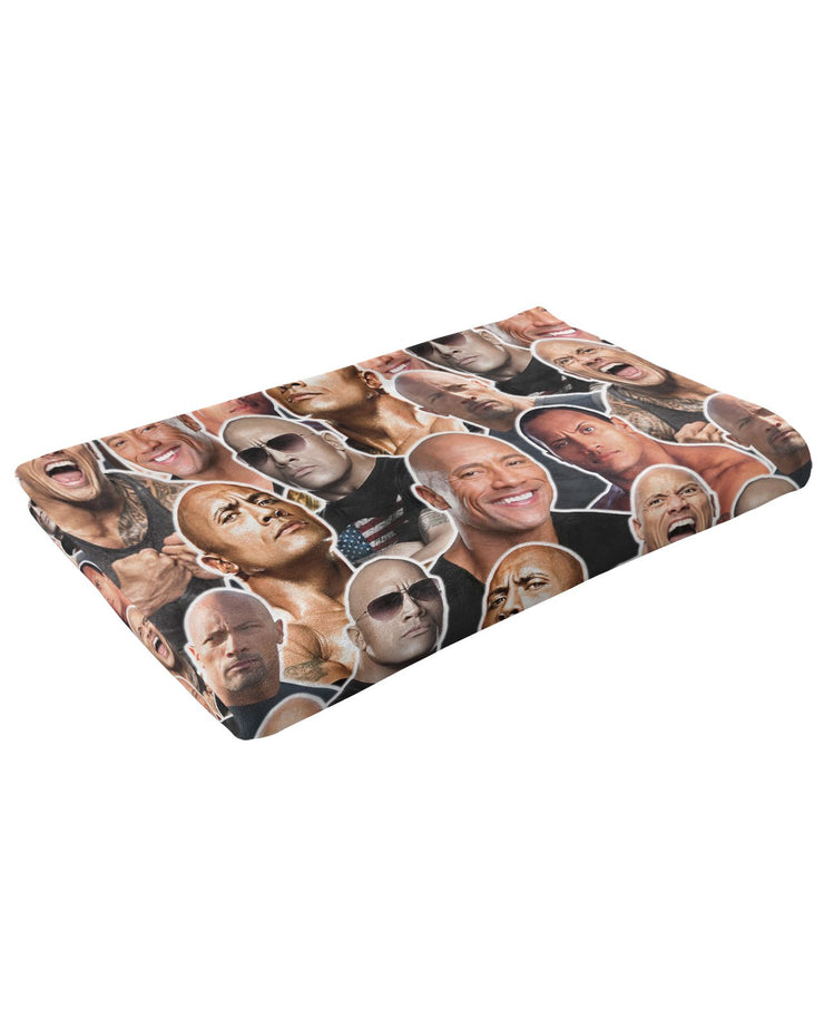 Dwayne Johnson Fluffy Blanket