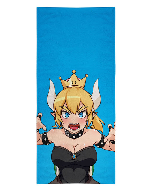 Bowsette Blue printed all over in HD on premium fabric. Handmade in California.