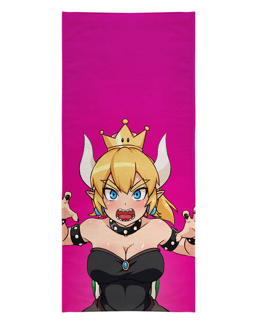 Bowsette Pink printed all over in HD on premium fabric. Handmade in California.