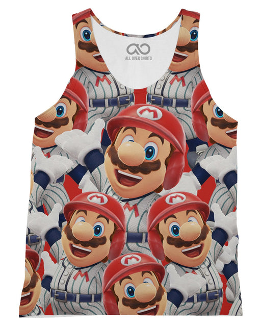 Super Mario printed all over in HD on premium fabric. Handmade in California.