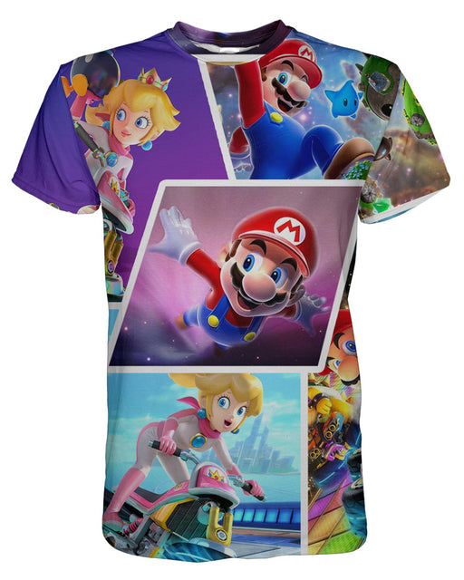 Super Mario Collage printed all over in HD on premium fabric. Handmade in California.