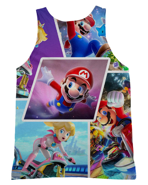 Super Mario Collage Tank-Top
