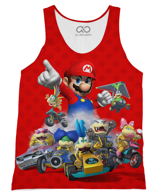 Super Mario Kart printed all over in HD on premium fabric. Handmade in California.