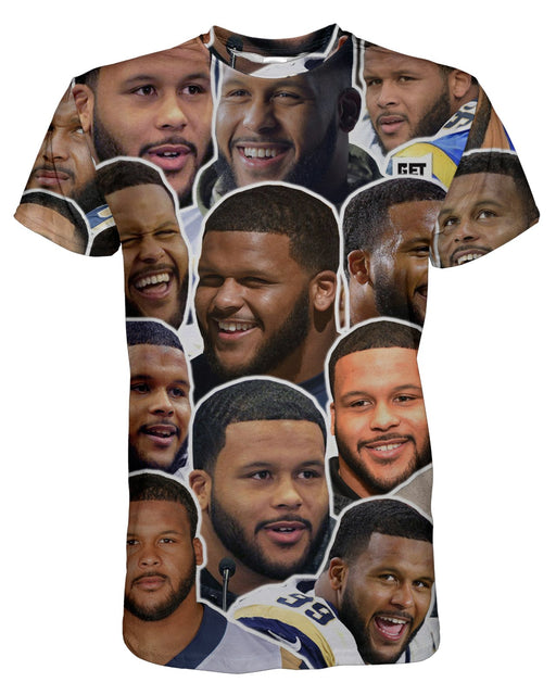 Aaron Donald printed all over in HD on premium fabric. Handmade in California.