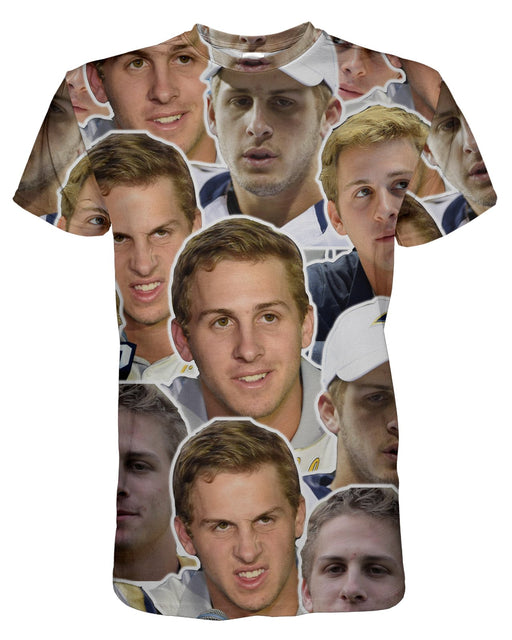 Jared Goff printed all over in HD on premium fabric. Handmade in California.