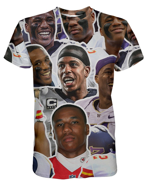 Marcus Peters printed all over in HD on premium fabric. Handmade in California.