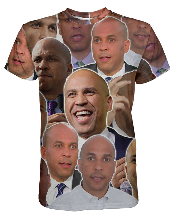 Cory Booker printed all over in HD on premium fabric. Handmade in California.