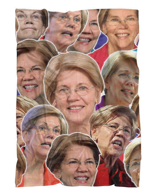 Elizabeth Warren printed all over in HD on premium fabric. Handmade in California.