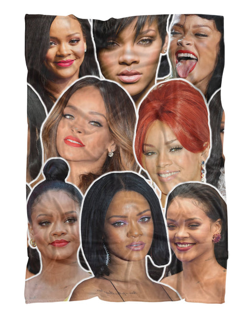 Rihanna printed all over in HD on premium fabric. Handmade in California.