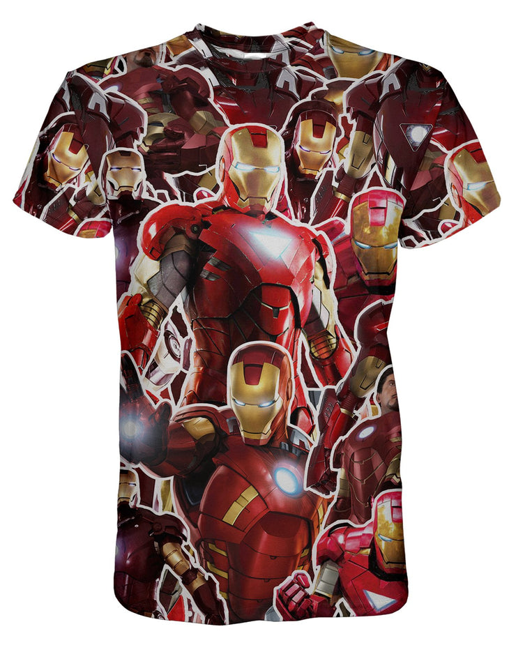 Iron Man printed all over in HD on premium fabric. Handmade in California.