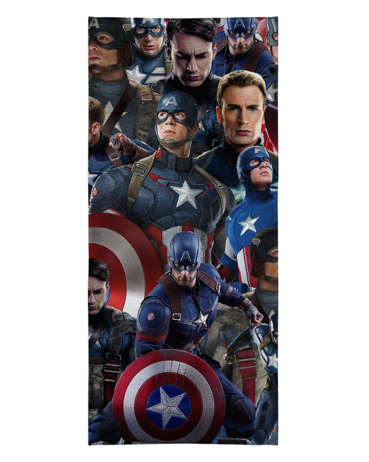 Captain America printed all over in HD on premium fabric. Handmade in California.