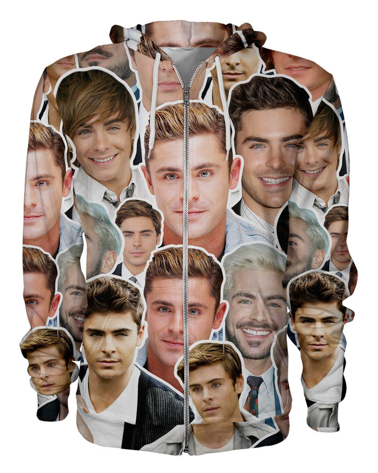 Zac Efron printed all over in HD on premium fabric. Handmade in California.