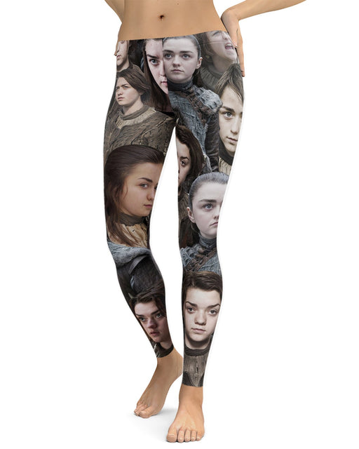 Arya Stark printed all over in HD on premium fabric. Handmade in California.