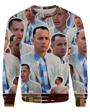 Forrest Gump printed all over in HD on premium fabric. Handmade in California.