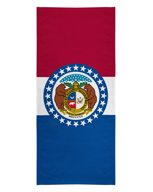 Missouri Flag printed all over in HD on premium fabric. Handmade in California.