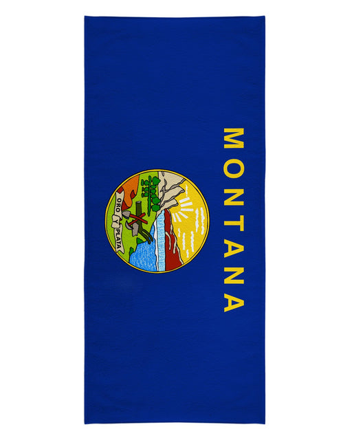 Montana Flag printed all over in HD on premium fabric. Handmade in California.