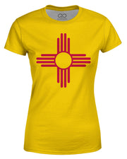 New Mexico Flag printed all over in HD on premium fabric. Handmade in California.