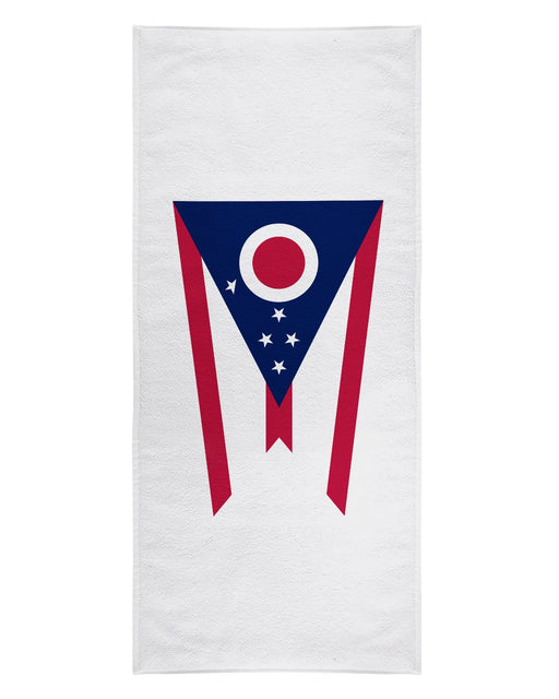 Ohio Flag printed all over in HD on premium fabric. Handmade in California.