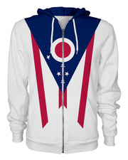 Ohio Flag Women's Zip Hoodie