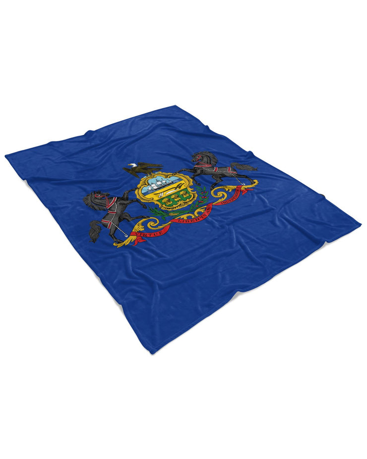 Pennsylvania Flag Fluffy Micro Fleece Throw Blanket