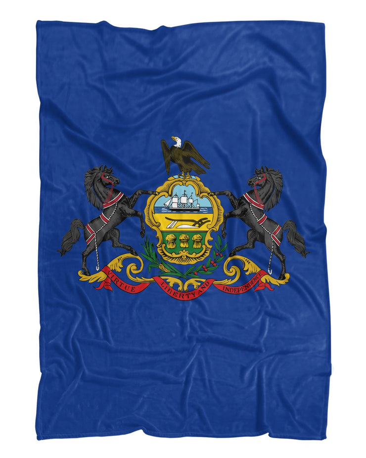 Pennsylvania Flag printed all over in HD on premium fabric. Handmade in California.