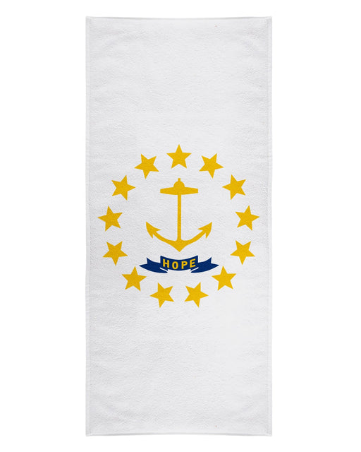 Rhode Island Flag printed all over in HD on premium fabric. Handmade in California.