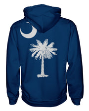 South Carolina Flag Women's Zip Hoodie