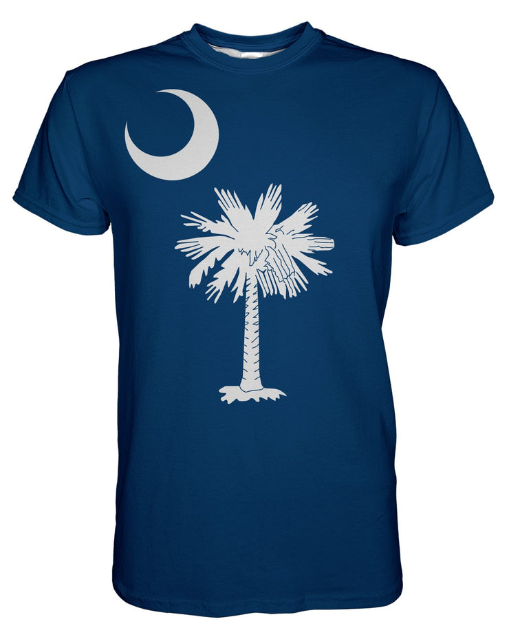 South Carolina Flag printed all over in HD on premium fabric. Handmade in California.