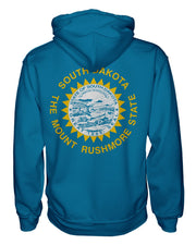 South Dakota Flag Women's Zip Hoodie