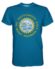 South Dakota Flag printed all over in HD on premium fabric. Handmade in California.