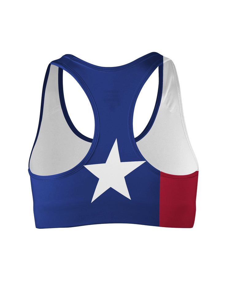 Texas Flag Sports Bra