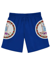 Virginia Flag Athletic Shorts