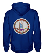 Virginia Flag Women's Pullover Hoodie