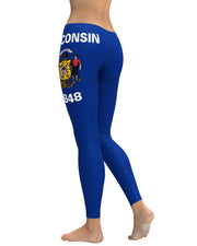 Wisconsin Flag Leggings