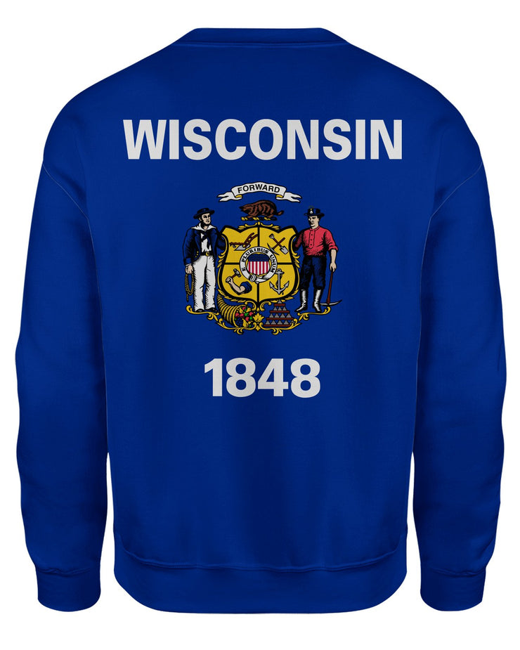 Wisconsin Flag Women's Sweatshirt