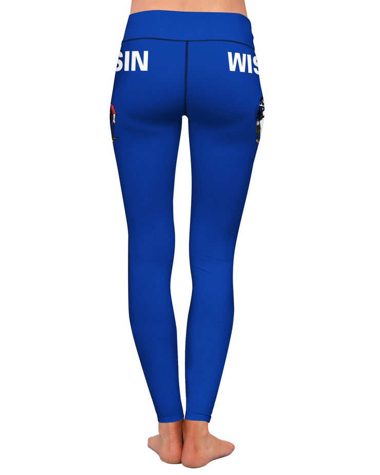Wisconsin Flag Yoga Leggings