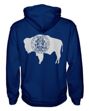 Wyoming Flag Women's Zip Hoodie