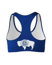 Wyoming Flag Sports Bra