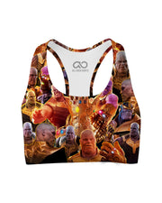 Thanos printed all over in HD on premium fabric. Handmade in California.