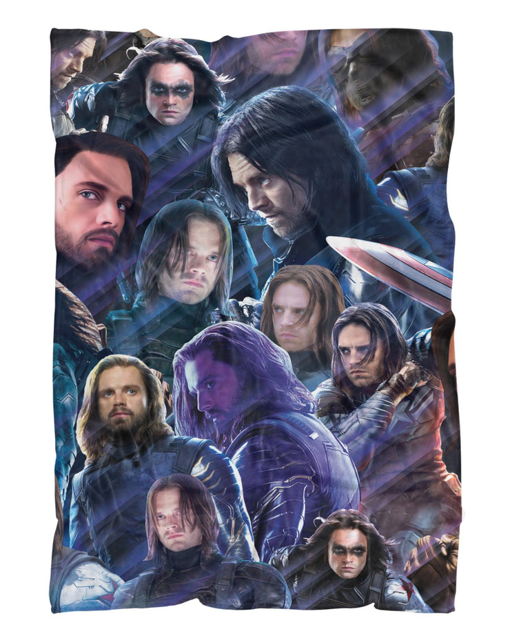 Bucky Barnes printed all over in HD on premium fabric. Handmade in California.