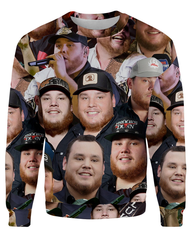 Luke Combs printed all over in HD on premium fabric. Handmade in California.
