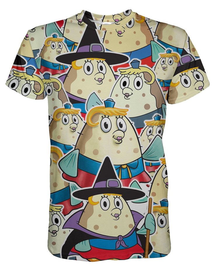 Mrs Puff printed all over in HD on premium fabric. Handmade in California.